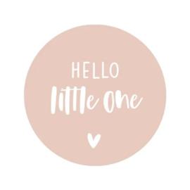 Sticker | Hello little one | Roze | 5 stuks