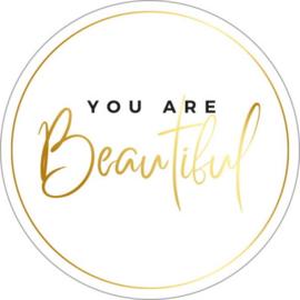 Sticker | You are beautiful | 5 stuks