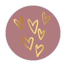 Gouden hartjes   10 stuks  