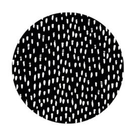 Sticker XL | Dots zwart | 5 stuks