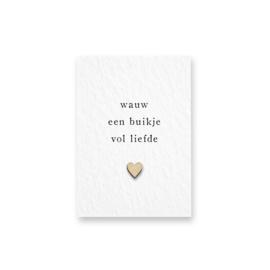 Mini kaartje | Wauw een buikje vol liefde