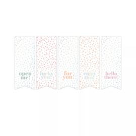 Stickers labels  | mix holografisch | 10 stuks |