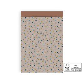 Kado zakje | Confetti | 17x25cm  5 stuks