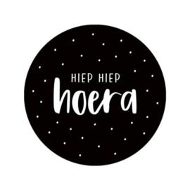 Sticker | Hiep Hiep Hoera | 5 stuks
