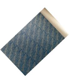 Kado Zakje   Blauwe veren   5 stuks   12x19 cm