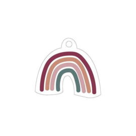 Kado Label | Regenboog vrije vorm | 2 stuks |