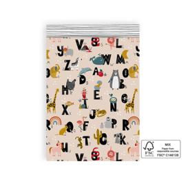 Kado zakje | ABC | 17x25cm | 5 stuks