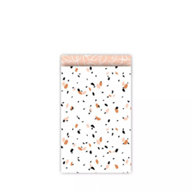 Kado zakje | Peach | 12x19cm | 5 stuks