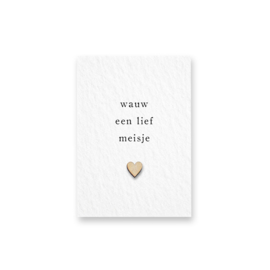 Mini kaartje | Wauw een lief meisje
