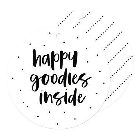 Kadolabel Rond | Happy goodies inside |