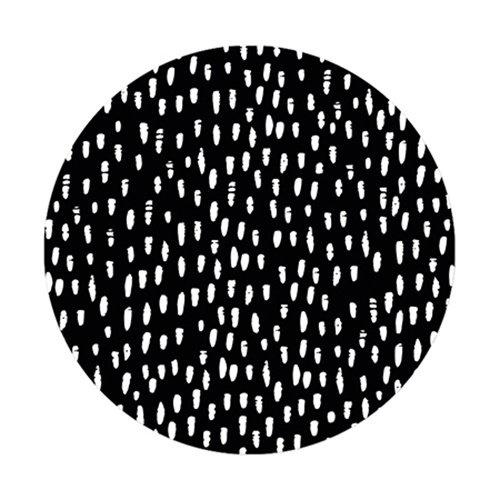 Sticker XL   Dots zwart   5 stuks