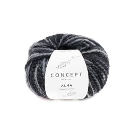 Alma 308 zwart grijs