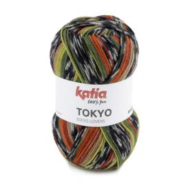 Tokyo socks 82 groen/ oranje