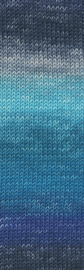 Merino 120 degradé 005 blauw
