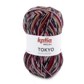 Tokyo socks 81 rood/ camel