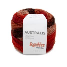 Katia Australis 201 rood/ koper/ zwart