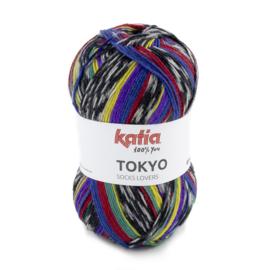 Tokyo socks 85 rood/ geel/ groen/ blauw