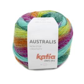 Katia Australis 205 petrol/ oranje/ geel/ blauw