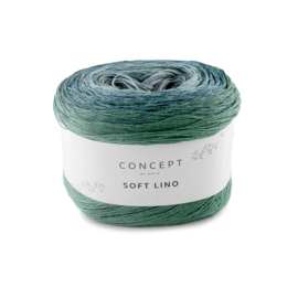 Katia Concept Soft Lino 601 blauw/ groenblauw
