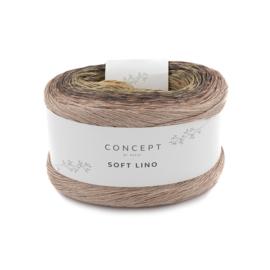 Katia Concept Soft Lino 608 donkergrijs/ bleekrood