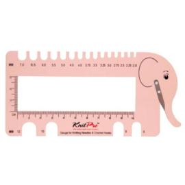 KnitPro naald- en gaugemeter olifant incl. garensnijder