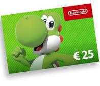 Nintendo giftcard € 25