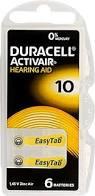 Batterij Duracell gehoorapparaat 10