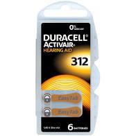 Batterij Duracell gehoorapparaat 312