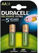 Batterij Duracell oplaadbaar AA