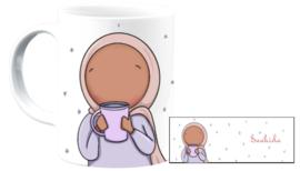 LIl' hijabi drinking