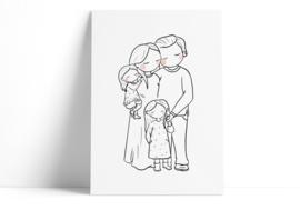 Familie - 2 dochters (stijl haar)