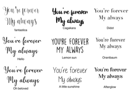 You're forever My always