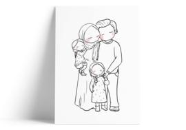 Familie - dochters (vlechtjes)