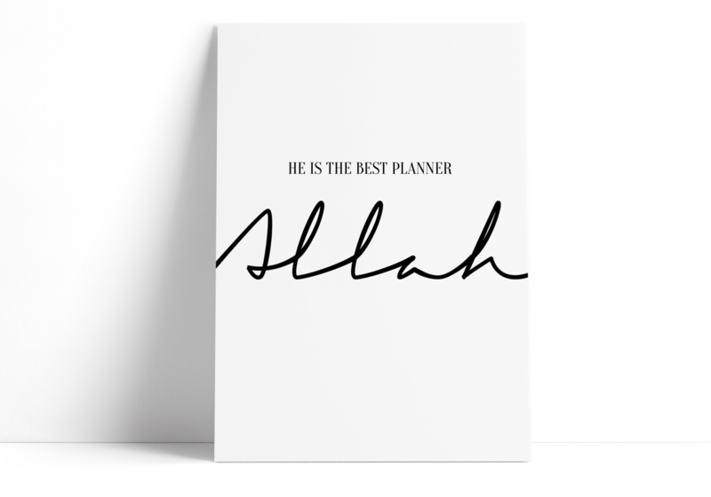 He is the best planner - Allah