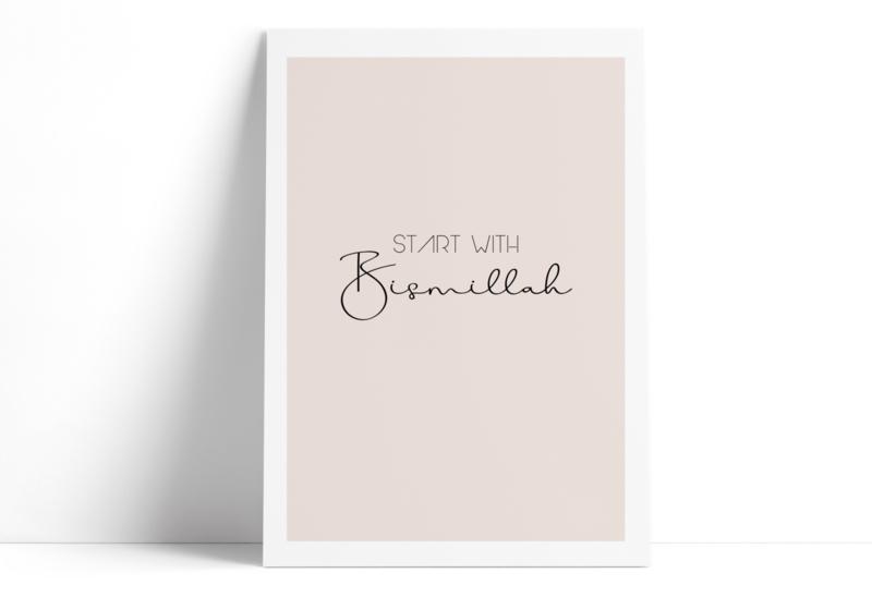 Start with Bismillah (roze)