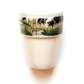 """Melk beker """" Nieuwe buren """"."""