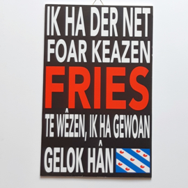 Tekstbord  Fries