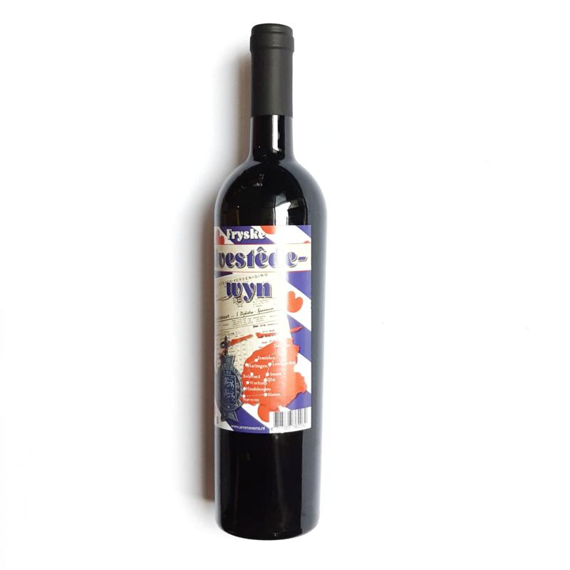 Fryske Alvestede wyn , Rood , 0,75 cl.