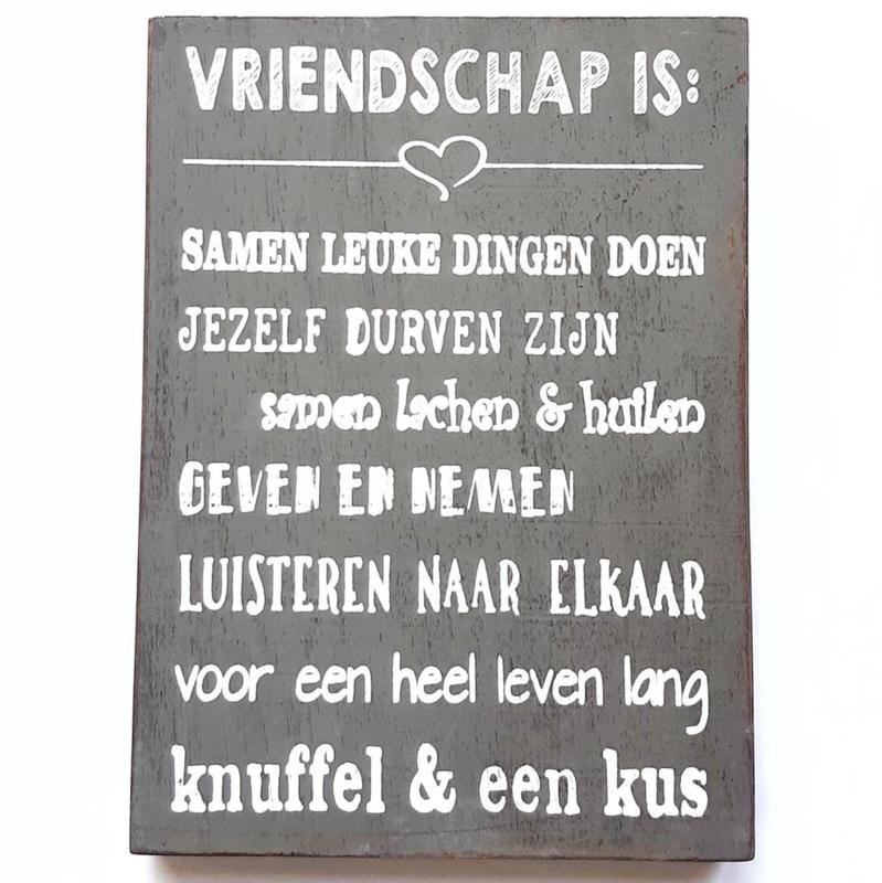 Vriendschap is.
