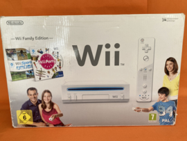 Nintendo wii wit in nette staat in doos - wii family pack (wii party & wii sports)