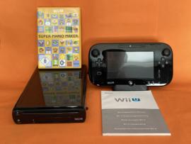Nintendo wii U zwart 32GB compleet - super Mario maker bundel (nette staat)