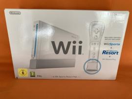 Nintendo wii wit in nette staat in doos - wii sports & resort pack