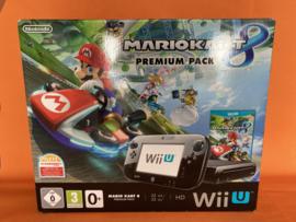 Nintendo wii U zwart 32GB premium pack - Mario kart 8 edition fysieke versie (gamepad in zeer nette staat)