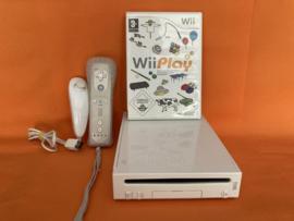 Nintendo wii wit compleet in nette staat - wii play bundel (third party controller)