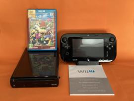 Nintendo wii U zwart 32GB compleet - Mario party 10 bundel (nette staat)