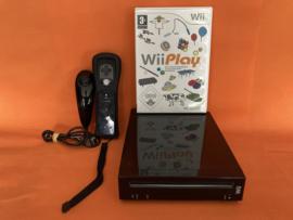 Nintendo wii zwart compleet in nette staat - wii play bundel (third party controller)