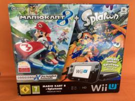 Nintendo wii U zwart 32GB premium pack - Mario kart 8 + splatoon  (nette staat)