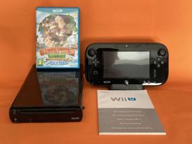 Nintendo wii U zwart 32GB compleet - Donkey Kong country tropical freeze bundel (nette staat)