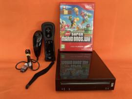 Nintendo wii zwart compleet in nette staat - Mario bros bundel