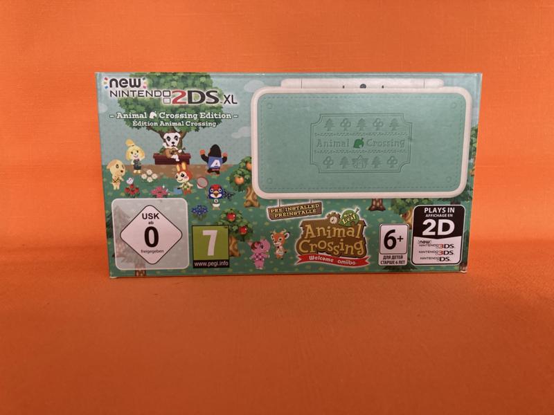 New nintendo 2DS XL animal crossing edition in verzamelstaat in doos & krasvrije schermen